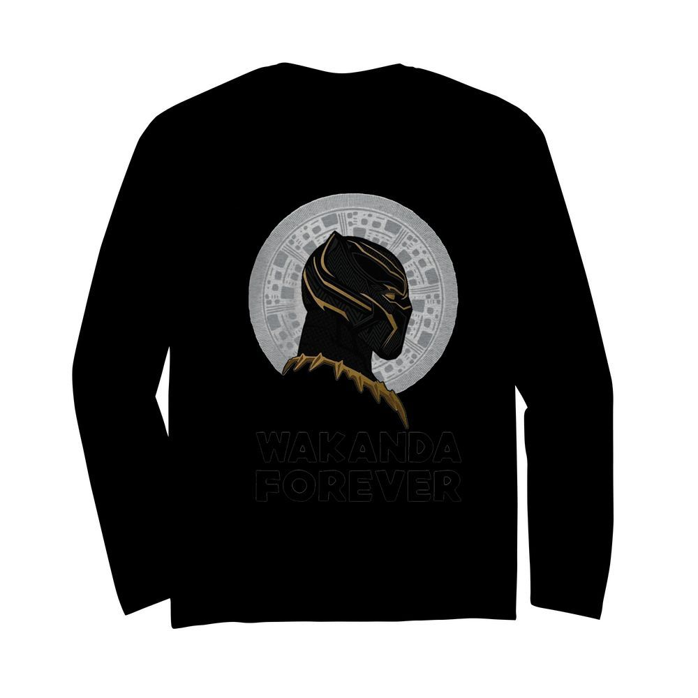 Black Panther Wakanda Forever Thank You For The Memories Signature  Long Sleeved T-shirt